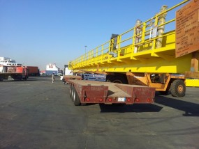 12 x Cranes moved from Jeddah Port to Project site in Baish.